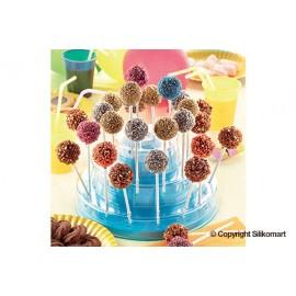 Suporte cakepops azul 225,5 H 110 mm Silikomart