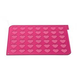 Tapete macarons coração silicone Silikomart
