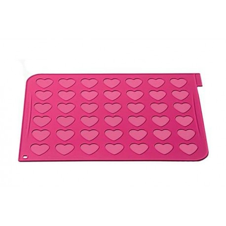 Tapete macarrons coração silicone Silikomart