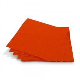 Guardanapo papel laranja 33x33 cms