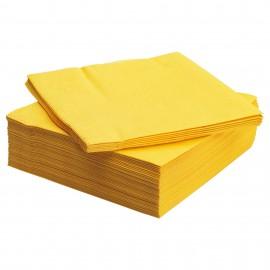 Guardanapo papel amarelo 33x33 cms