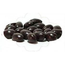 Amêndoas cobertas com chocolate negro - 100 gr.