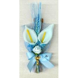 Ramo azul com pau canela 18 cm