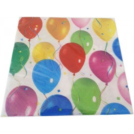 Guardanapo papel balões 33x33 cms