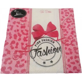 Guardanapo papel pink fashion 33x33 cms