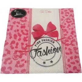 Guardanapo papel pink fashion 33x33 cms