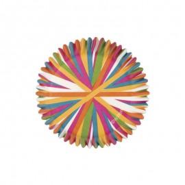 Petifur riscas coloridas 75 unid. 5 cms Wilton