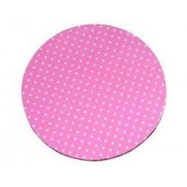 Base rosa com bolas brancas 30,5x1,2 cm