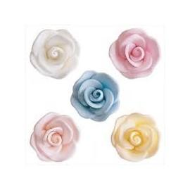 Rosa em açúcar 3 cms diâmetro Dekora (unidade)