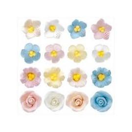 Flores em açúcar mini formatos diversos Dekora