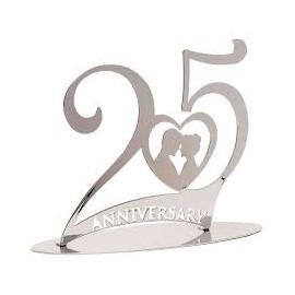 Boda metal prata 25º aniversário casamento Dekora