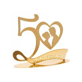 Boda metal dourada 50º aniversário casamento Dekora