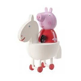 Porquinha Peppa no cavalinho (boneco) Dekora