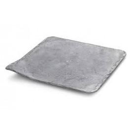 Bandeja plástico efeito pedra com 24x24 cms - 10 unid.