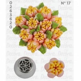 Bico pasteleiro flor de creme nº 17 decora