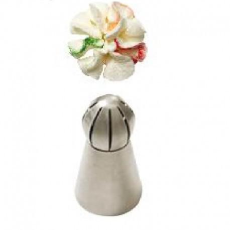 Bico pasteleiro flores em creme nº 41 médio decora
