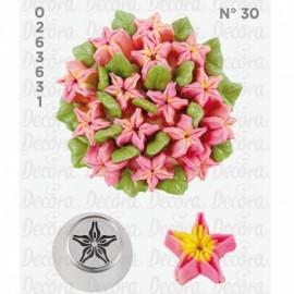 Bico pasteleiro flor estrela de creme nº 30 decora