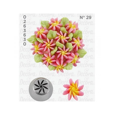 Bico pasteleiro flor de creme nº 29 decora