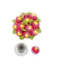Bico pasteleiro flores estrela em creme nº 23 decora