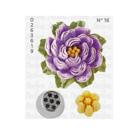 Bico pasteleiro flor de creme nº 8B decora