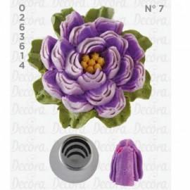 Bico pasteleiro flor-pétala de creme nº7 decora