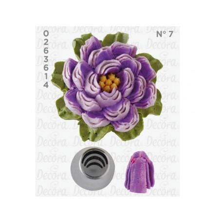 Bico pasteleiro flor-pétala de creme nº 6 decora
