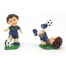 Jogador futebol azul com 5 cm marfinite - individual