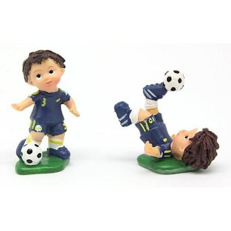 Jogador futebol azul com 5 cm - individual