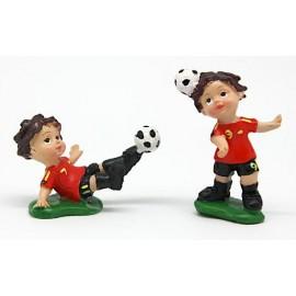 Jogador futebol vermelho com 5 cm marfinite - individual