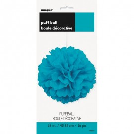 Pendente Puff Azul com 40,64 cms