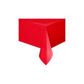 Toalha de mesa vermelha plástica com 1,37x2,74 mt unique