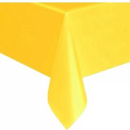 Toalha de mesa amarela plástica com 1,40x2,40 mt Faucy