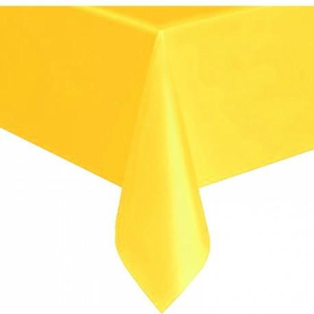 Toalha de mesa amarela plástica com 1,40x2,40 mt Givi Italia