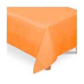 Toalha de mesa laranja plástica com 1,40x2,40 mt Faucy