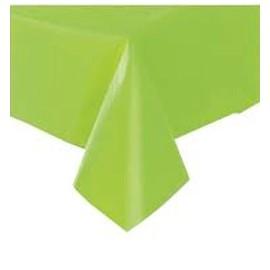 Toalha de mesa verde plástica com 1,40x2,40 mt Faucy