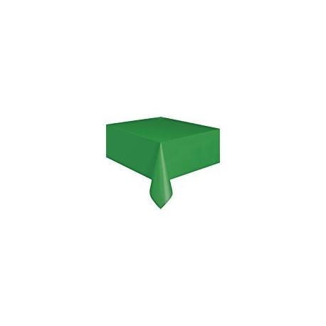 Toalha de mesa verde plástica com 1,37x2,74 mt Unique