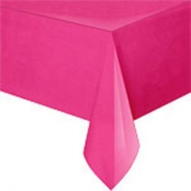 Toalha de mesa rosa choque Neon plástica com 1,37x2,74 Unique
