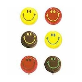 Molde bombons Lollipops cara sorridente Wilton