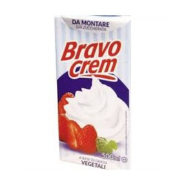 Natas (chantily) vegetais 500ml bravo cream