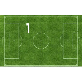Impressão em papel comestível em formato de Campo de futebol