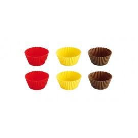 Forma silicone 7 cms - cupcake - conj. 6 unid. Tescoma