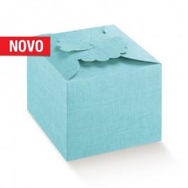 Caixa Margherita azul com 10X10X9 cm