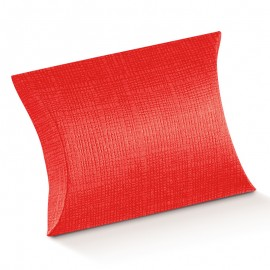 Caixa vermelha 17x12x3,5 cms oval