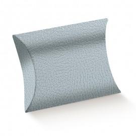 Caixa cinza 11x12x3 cm oval