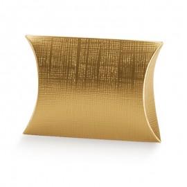 Caixa dourada 13x11x3 cm oval