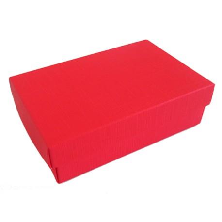 Caixa vermelha tampa + fundo 130x90x40 mm