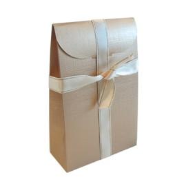 Caixa com pala seta ouro com 115x55x180 mm