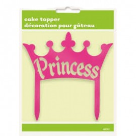 Topo de bolo princess rosa plástico Unique