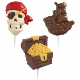 Molde Bombons Lollipop Pirata Wilton