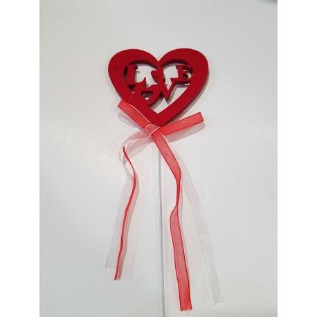 Coração feltro vermelho Love com pico